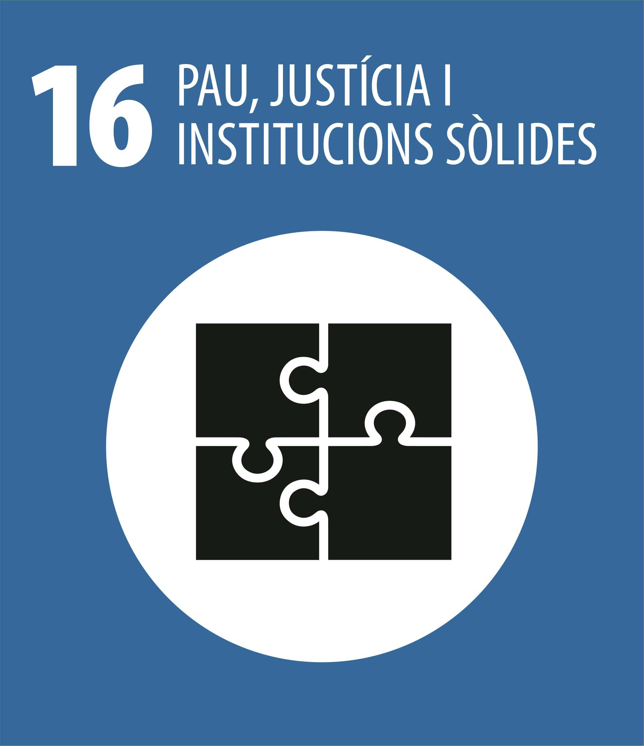 ODS 16 Pau justicia institucions solides
