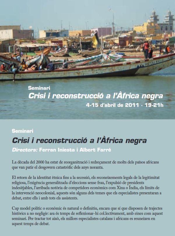 Seminari Crisi i reconstruccio a Africa negra